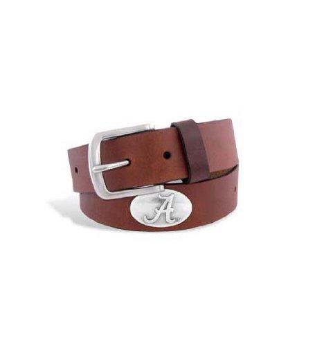 ZEP-PRO NCAA Alabama Crimson Tide Men's Leather Concho Belt, Brown, 46