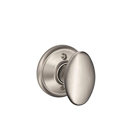 Siena Knob Non-Turning Lock, Satin Nickel (F170 SIE (F170 Single Dummy)