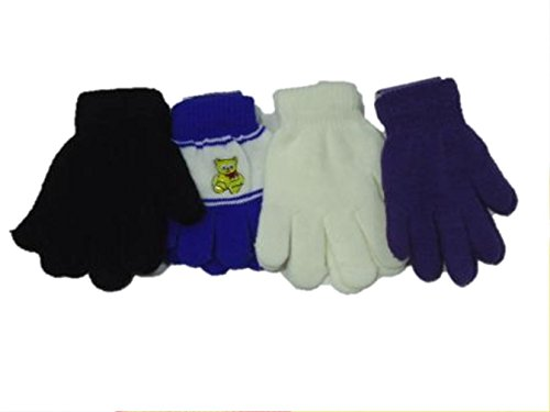 Four Pairs Magic Bubu Gloves for Ages 1-4 Years