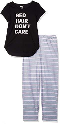 Crazy 8 Girls Big Short Sleeve Curve Hem Flame Resistant Pajama Set Bed Hair Dont Care L