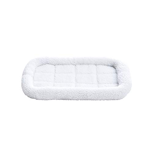 AmazonBasics Faux-Sherpa Padded Bolster Pet Bed
