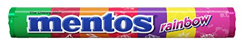 Mentos Chewy Mint Candy Roll, Rainbow, Non Melting, 1.32 ounce/14 Pieces ()