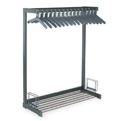 UPC 035389010166, Magnuson Group Office Rak, 16 Anti-Theft, Preset Space Hangers, Steel, Black