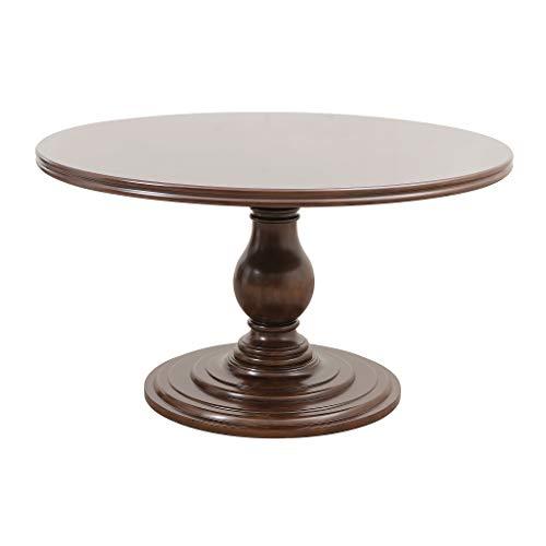 Homelegance Oratorio 54 Round Pedestal Dining Table, Dark Cherry