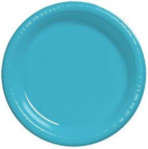 Bermuda Blue Package - Bermuda Blue 10 1/4 Inch Plastic Plates Package of 20