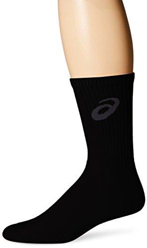 ASICS Team Crew Sock, Black/Steel Grey, Medium