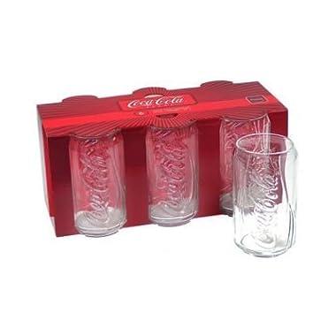 ARC International Luminarc Coca Cola Can Cooler Glass, 12-Ounce, Set of 6