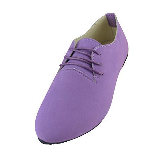 Espadrilles Travail Lacet Suédine Élégance Clair Faux Confort Violet Et En Ballerines De Chaussures 0qWBYxwTEt