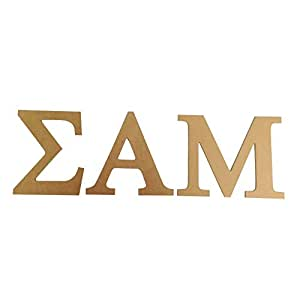 """Sigma Alfa Mu 7,5""""sin terminar madera carta Set Sammy"""