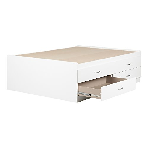 South Shore 11858 Captain Bed with 4 Drawers Step One Full, 54