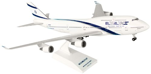 Daron Skymarks El Al 747-400 Airplane Model Building Kit with Gear, 1/200-Scale