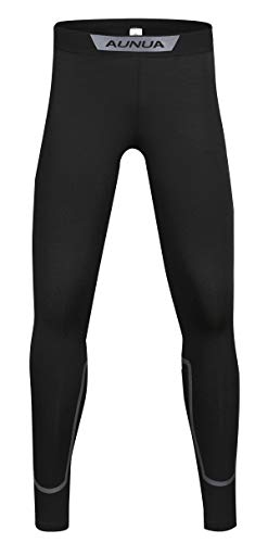 - Aunua Youth Compression Leggings Baselayer Sports Tights Thermal Hockey Pants for Kids(9032 Black 10)