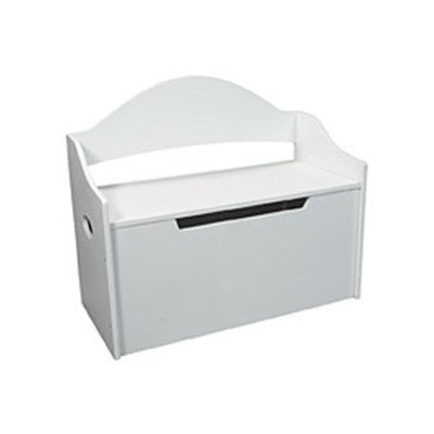Gift Mark Toy Chest with Arched Back, White by Gift Mark