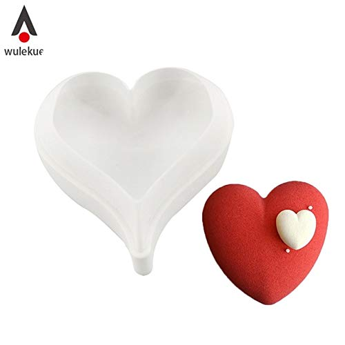 (Silicone Heart 3D Cake Mold Baking Pastry Molds Chocolate Mousse Mould Cake Decorating Tools Bakeware Pan)