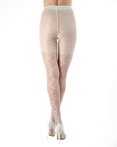 MeMoi Desire Sheer Vine Backseam Pantyhose   MeMoi Bridal Hosiery Panna ETS05265 - Hosiery Bridal