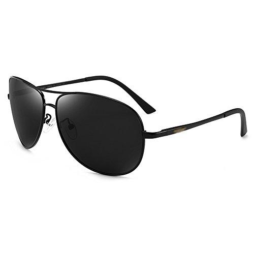 de Color GYYTYJ hombres que SSSX Wayfarer conducen de sol de los de UV aviador Gafas Protección sol color Negro Gun Gafas antideslumbrante polarizador YHw8Y
