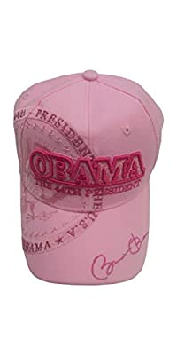 "President Obama ""Pink ' Commemorative Signature Hat"