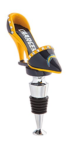 (Team Sports America NFL San Diego Chargers High Heel Shoe Wine Bottle Stopper, Small, Multicolored )
