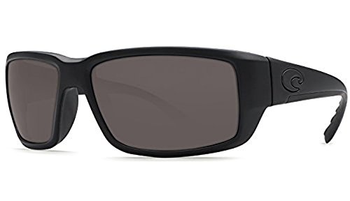 Costa Fantail Sunglasses Blackout / Gray Glass 580G & Neoprene Classic - Fantail Blackout