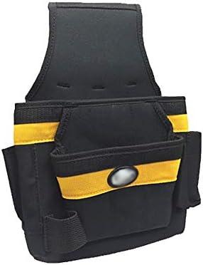 ツールベルト 頑丈な耐摩耗キャンバスの電気技師ウエストツールベルト肥厚大容量ツールオーガナイザーブラック 大工のエプロン (Color : Black, Size : 23x20cm)