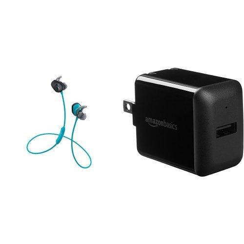 Bose SoundSport Wireless Headphones, Aqua + AmazonBasics USB