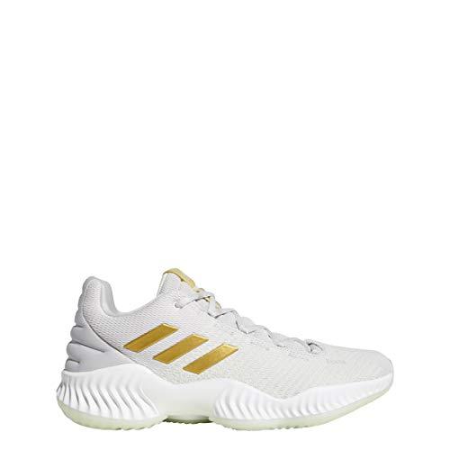 adidas Men's Pro Bounce 2018 Low Basketball Shoe, aero Green/Gold Metallic/Grey, 11.5 M US