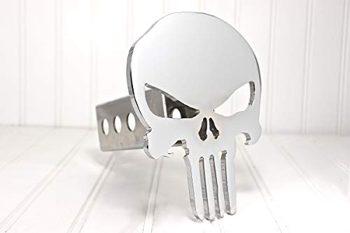 Custom Hitch Covers 12779-Chrome Punisher Skull Hitch Cover, 2