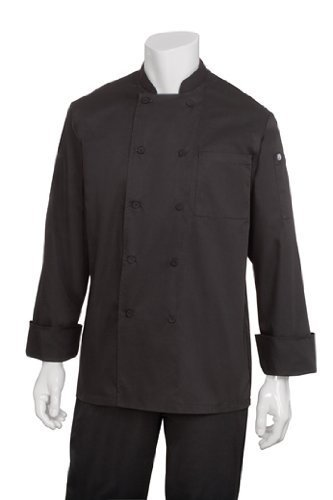 Chef Works JLLS-BLK-L Calgary Cool Vent Basic Chef Coat by Chef - Online Store Calgary