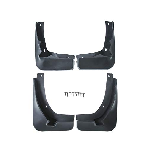 (A-Premium Splash Guard Mud Flaps for Volkswagen GTI 2015-2017 Hatchback Front and Rear 4-PC Set)
