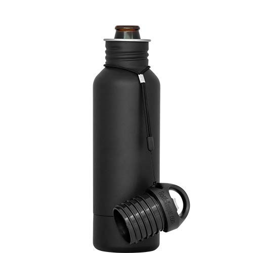 BottleKeeper - The Standard 2.0 - The Original Stainless Steel Bottle Holder and Insulator to Keep Your Beer Colder (Black)
