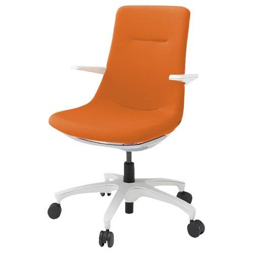 ITOKI(イトーキ) モーブチェア(MOVU) 樹脂脚(キャスター付)/GB張地 フレーム:W9色×張地:D3/アンバーオレンジ KF-615GB-W9W9D3 B008HYWJ5A W9×D3/アンバーオレンジ W9×D3/アンバーオレンジ