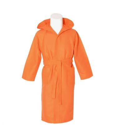 10XDIEZ Albornoz Microfibra Adulto Naranja - Medidas Albornoces/Batas Adulto - L (Grande)