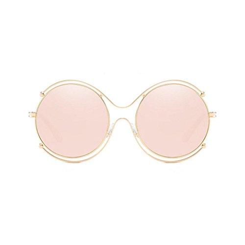 film lunettes Retro Trend couleur cadre lunettes hommes GAOLIXIA rond femmes lunettes de métal Rose et soleil en Sunglasses nUZxaqxfg
