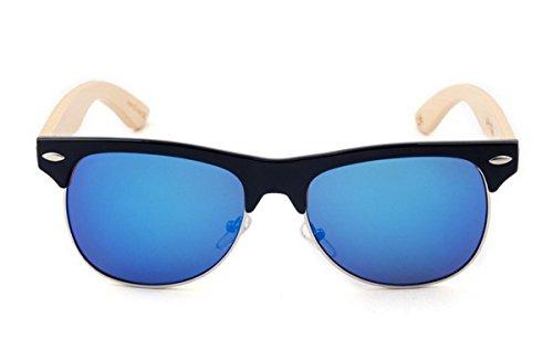 sol Aviator de polarizadas de 1 Color caja Gafas madera Ahatech Uv400 con Protection Women xqH0HX