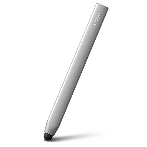 elago Stylus [Grip][Silver] - [Premium Aluminum ][Ergonomic Grip][Replaceable Extra Tip Included] - for iPad, iPad Pro, iPad Mini and iPhone