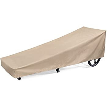 SunPatio Outdoor Patio Chaise Lounge Cover, Extremely Lightweight, Water  Resistant, Eco Friendly