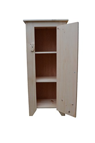 Farmhouse Standing Jelly Cupboard made of Unfinished Pine Wood and ready to be Finished to match your Country (Unfinished Cupboard)