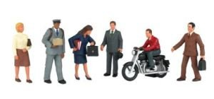 Bachmann Trains City People with Motorcycle (People Ho Scale)