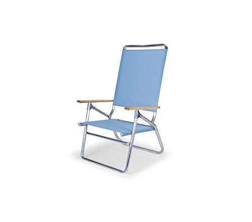 Premium Light and Easy High Boy Folding Beach Arm Chair, Sky