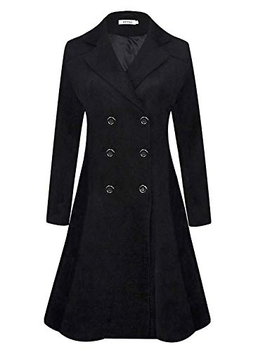 APTRO Womens Coats Winter Long Casual Toggle Outerwear Double Breasted Wool Coat #2
