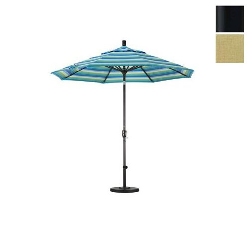 108 in. Aluminum Market Umbrella (M Black and Sunbrella Heather Beige)