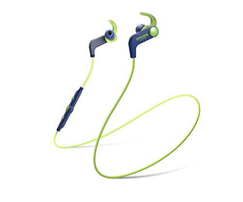 Koss BT190ib Wireless Bluetooth Earbuds | In-line Microphone & Touch Controls | Sweat Resistant | Three Cushion Sizes Included | 6 Hour Battery Life | Light Weight | Blue & Green Headphones