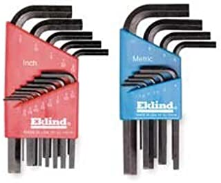 product image for EKLIND 10122 Hex L-Key allen wrench Combo- Short Inch / MM (2 sets 22pc)