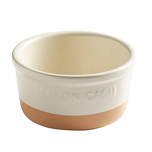 Mason Cash Collection Chip Resistant Stoneware Ramekin/Dip Dish, Ceramic, Cream/Cane, 11 x 11 x 5.5 cm 2001.763
