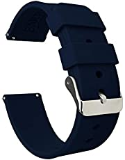BARTON Silicone Watch Bands - Quick Release Straps - Choose Color & Width - 16mm, 18mm, 20mm, 22mm, 24mm, 24mm - Soft Rubber