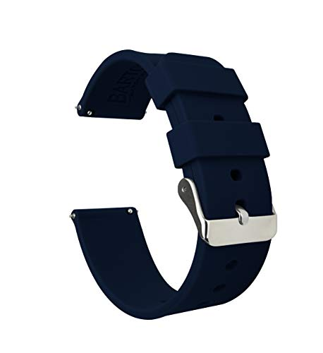 Barton Silicone Watch Bands - Quick Release Straps - Choose Color & Width - 16mm, 18mm, 20mm, 22mm - Navy Blue 22mm