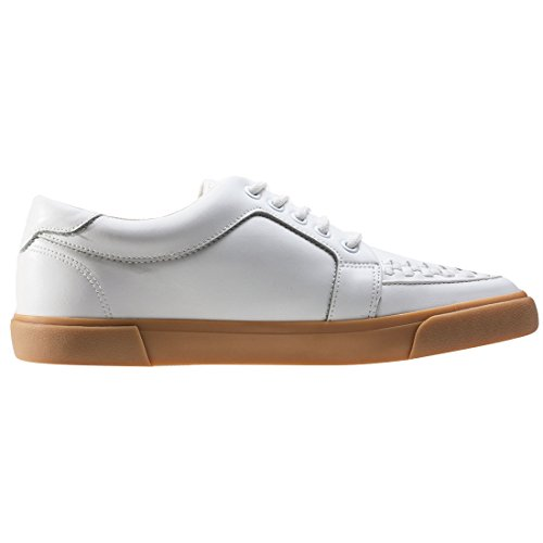 K Baskets Basses Leath Mixte Gum Sole Gum White Sneaker Adulte WHT Creeper U VLK T 5WczCwfqH