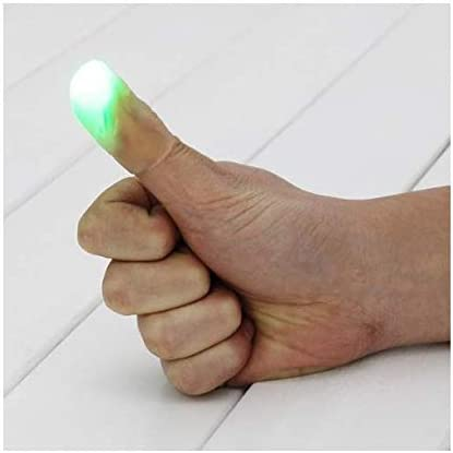 2/x Light up Flashing Thumb Tips Magic Trick Fingers Appearing Light