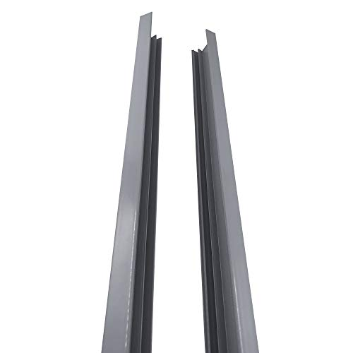 Stratco Aluminium Slat Fence Side Frame (Set of 2) Slate Gray
