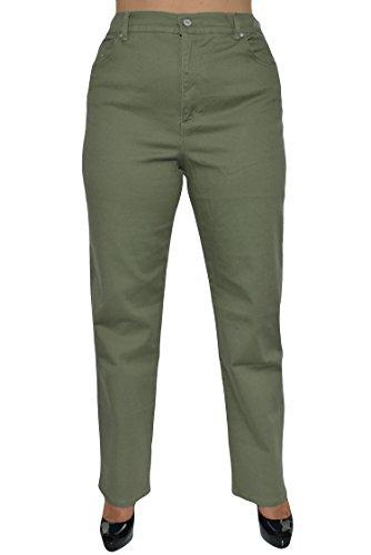 Pale Green Pants - Gloria Vanderbilt Women's Amanda Classic Tapered Jean, Pale Sprig, 16 Average
